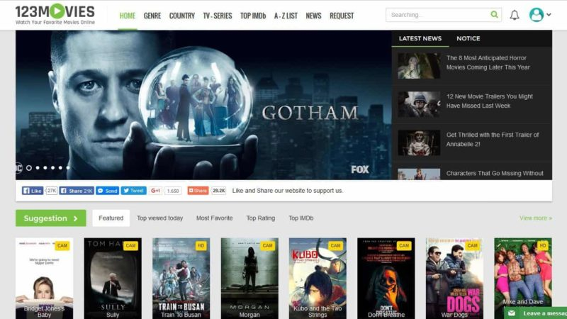 123Moviesonline – Free Movies, Series, Shows & Best Alternatives, Proxies To Unblock 123 Movies