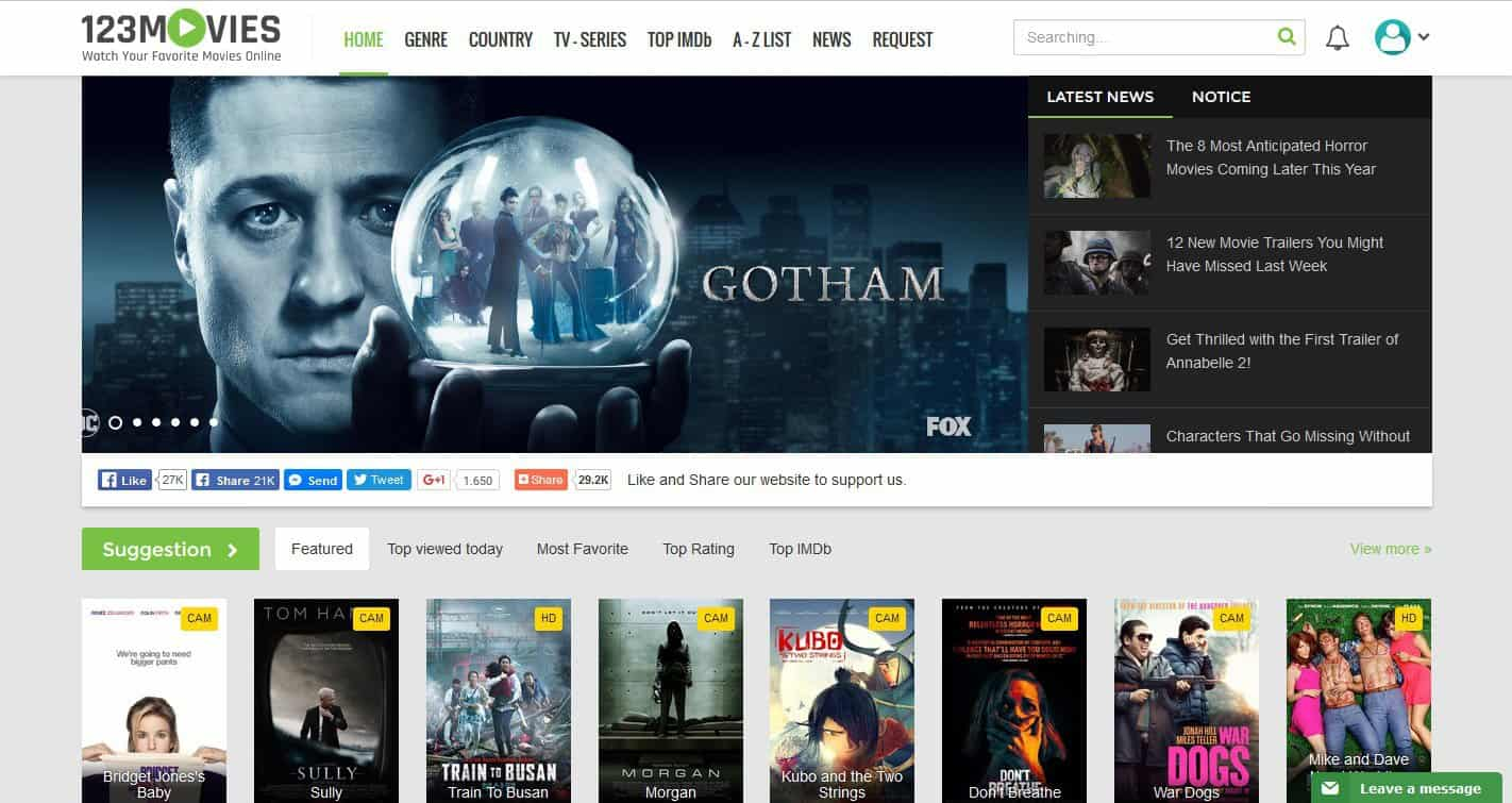123Moviesonline – Watch Movies, TV Shows & Series For Free [2020]