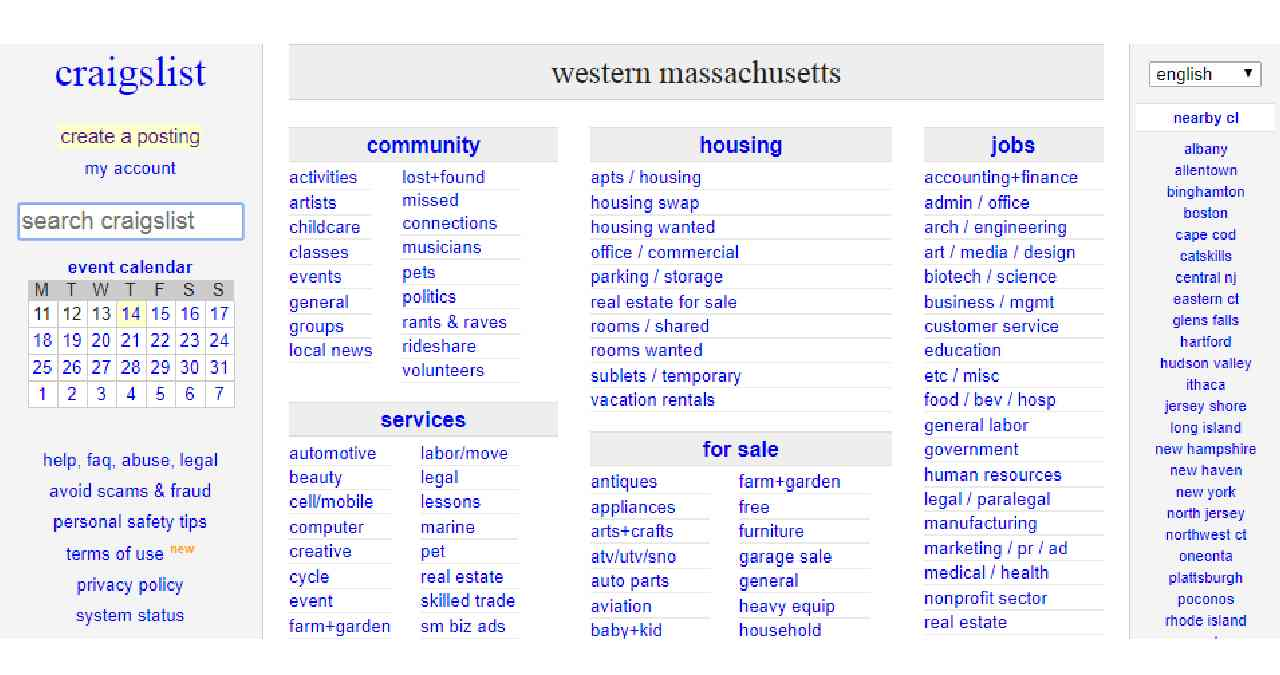 Craigslist Western Mass – All You Need to Know About Craigslist Postings